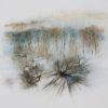 Perspectives trébuchées/ Stumbling Perpectives. Huile et aquarelle sur Lanavanguard, 50cm x 70cm